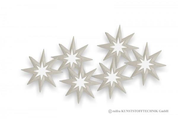 Stern 10cm, 6 Stück zum Dekorieren
