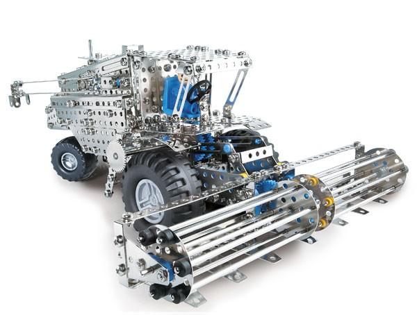 Metallbaukasten - Mähdrescher / Traktor + Anhänger