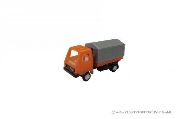 Multicar M26 L11.1 (TT) orange mit Plane grau
