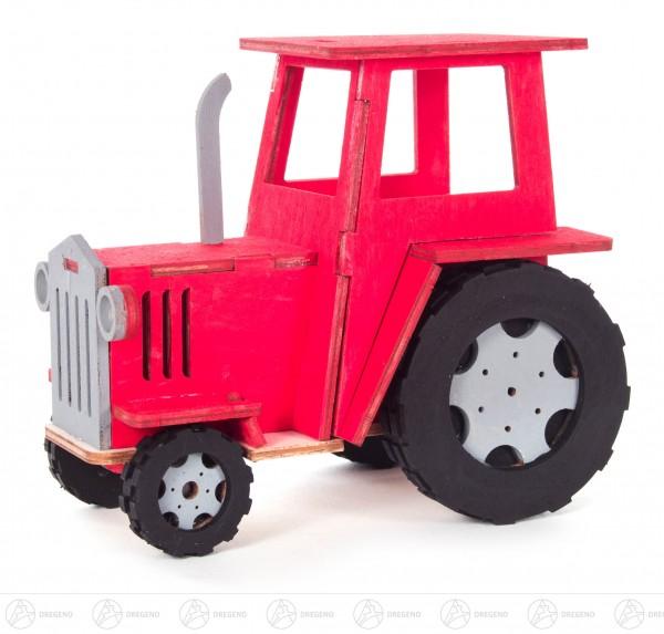 Bastelsatz Traktor auf Platte