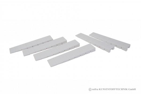 Möbelkeil in weiß,6 Stück im Beutel