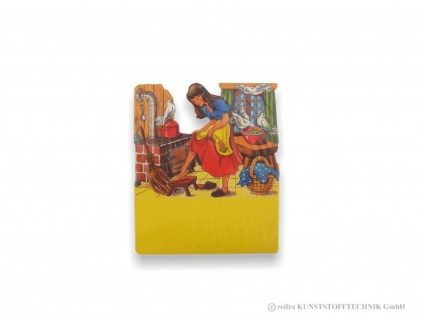 Kalenderrückwand , gedruckt Aschenputtel