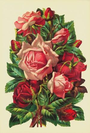 Aufstellschmuckkarte Rosen