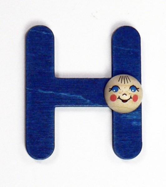 Holz-Buchstabe H mit Köpfchen
