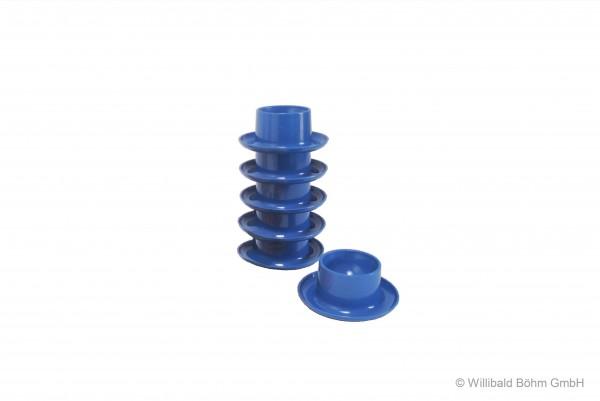 Eierbecher rund, 6-er Pack, pastell-blau