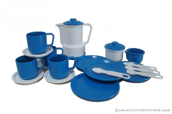 "Kaffeeservice ""Gitta"" weiß/ blau"