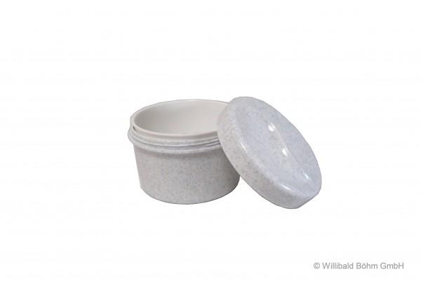 Zahnspangendose mit Einsatz, granit-weiß