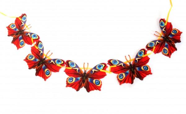 Große Girlanden roter Schmetterling