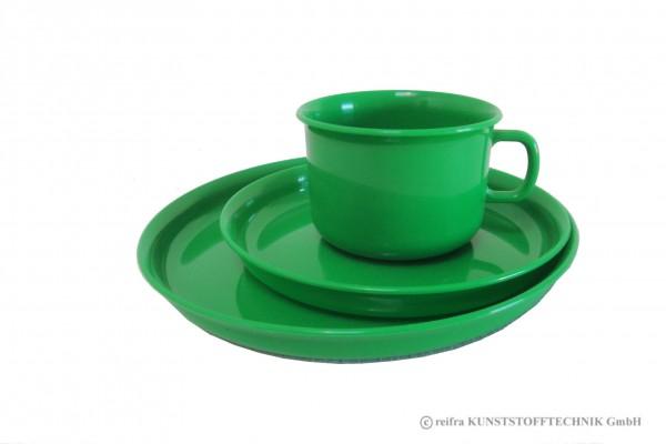 Gedeck 3-teilig, grün
