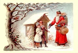 Aufstellschmuckkarte Weihnachtsmann