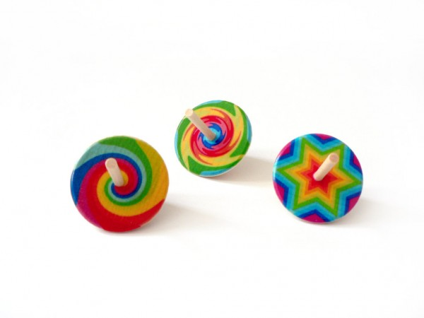 Kreisel, 3-farbig