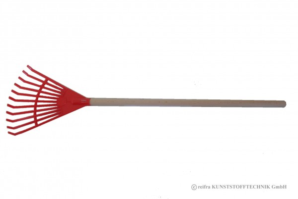 Laubbesen rot mit Holzstiel