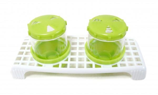 Gewürzstreuer Set, 2-teilig, limone