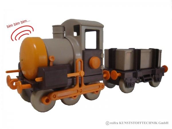Kindereisenbahn, braun/ beige/ orange