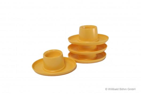Eierbecher oval, 4-er Pack, pastell-gelb