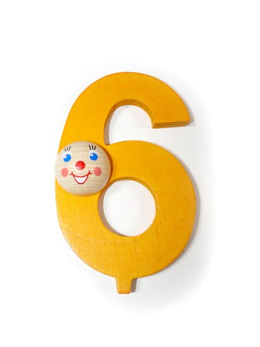 """Geburtstagszahl """"6"""""""