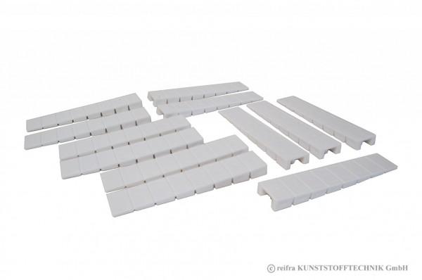 Möbelkeil weiß 12 Stück im Beutel