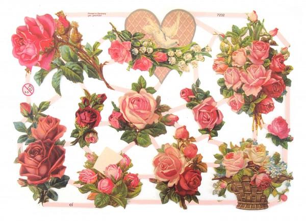 Glanzbilder, Rosen VIII