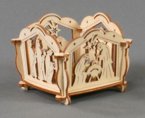 Bastelsatz Teelichthalter Motiv: Christi Geburt