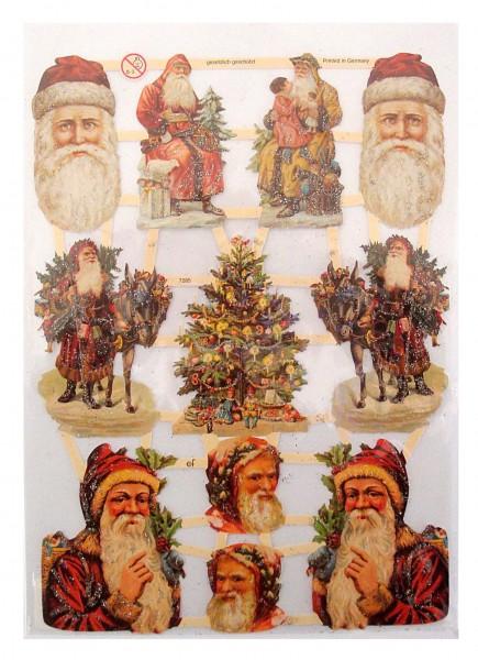 Glanzbilder, Weihnachten Silber/Glitter