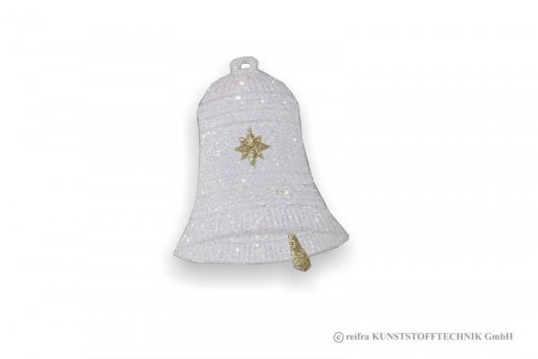 Weihnachtsschmuck Glocke einzeln, 16 x 20, Pappe