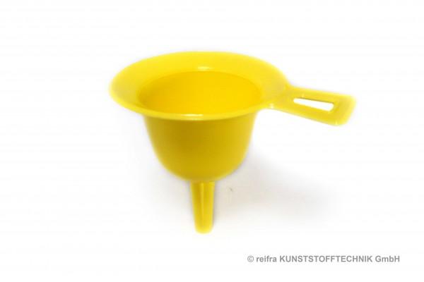 Trichter 80 mm gelb