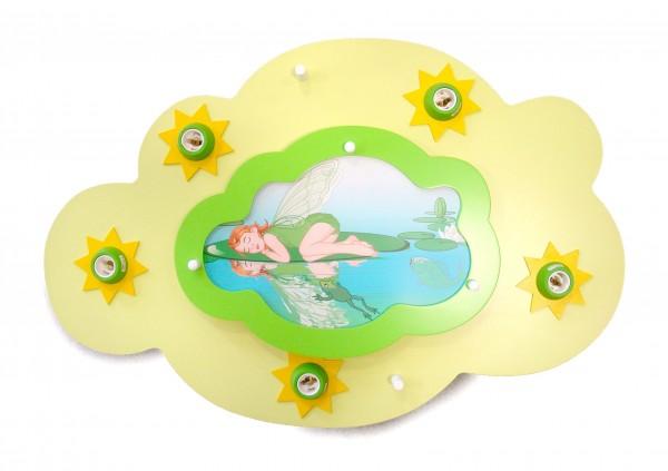 """Deckenleuchte Wolke lindgrün + Wolke """"schlaf. Fee"""""""