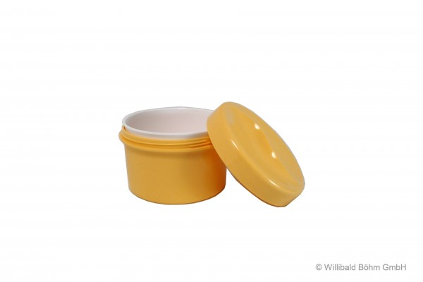 Zahnspangendose mit Einsatz, pastell-gelb