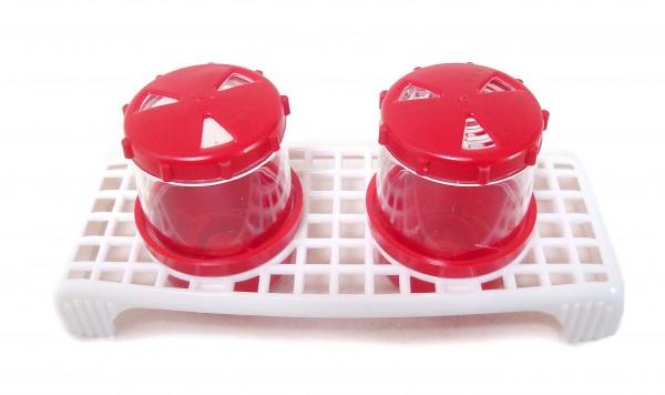 Gewürzstreuer Set, 2-teilig, rot