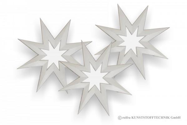 Stern 22 cm, 3 Stück zum gestalten