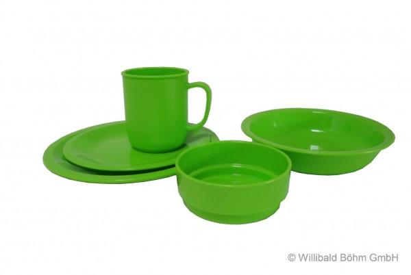 Geschirr-Set, 5-teilig, grün