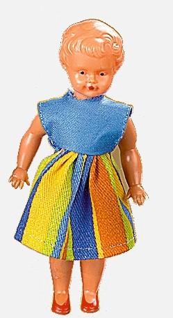 Plastik-Puppe, 12 cm