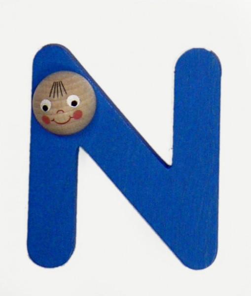 Holz-Buchstabe N mit Köpfchen