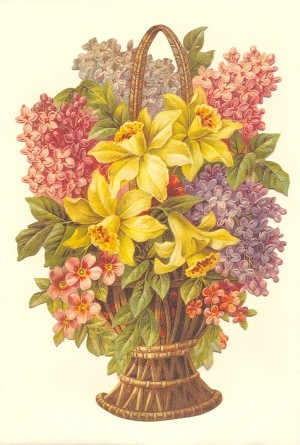Aufstellschmuckkarte Strauß mit gelben Lilien