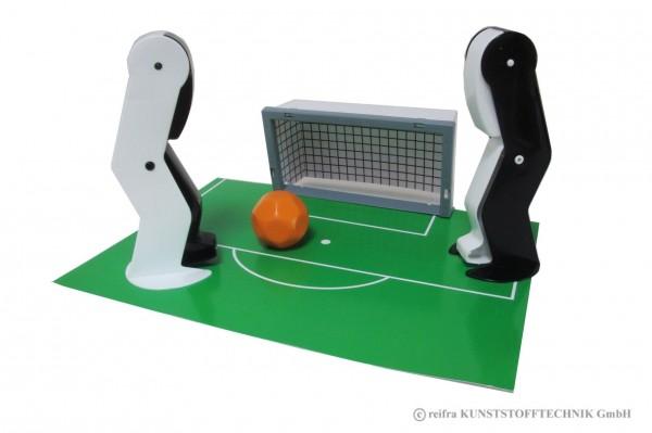 Fußballspiel Spieler  schwarz - weiß