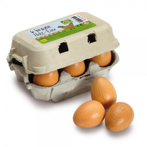 Eier, braun im Karton - Kaufladen