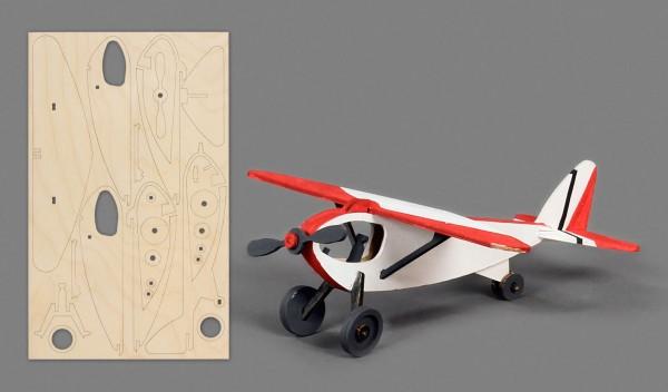 Bastelsatz Sportflugzeug auf Platte