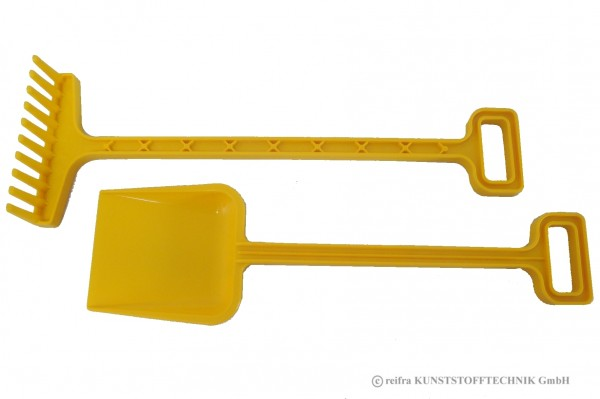 Gartengeräte Set Spaten + Rechen gelb