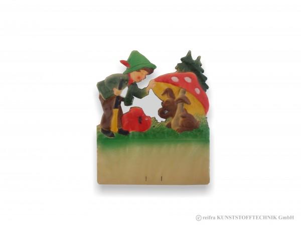 Kalenderrückwand geprägt Jäger entdeckt Hase