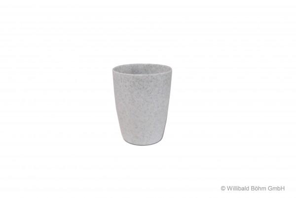 Zahnputzbecher, granit-weiß-gesprenkelt