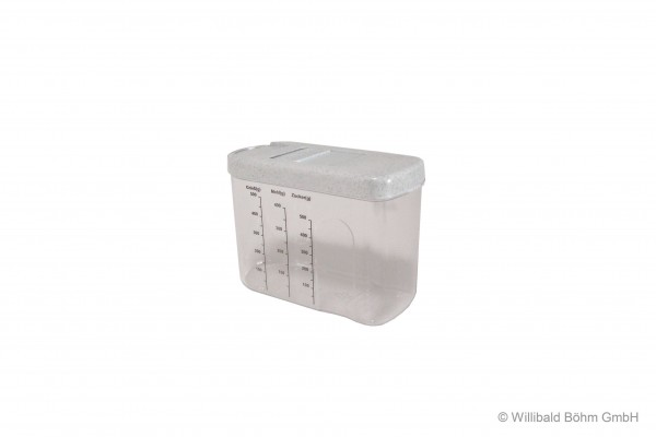 Schüttbox 0,8 l, mit Skala