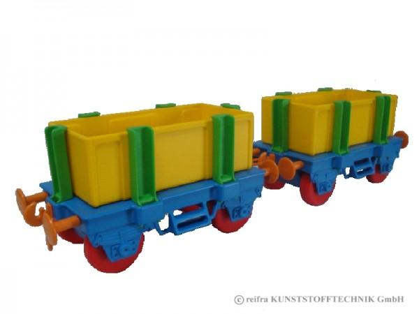 Waggons für Kindereisenbahn, bunt