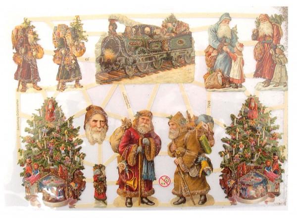 Glanzbilder, Weihnachtsmotive, Silber/Glitter