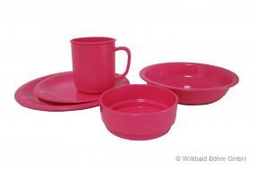 Geschirr-Set, 5-teilig, pink