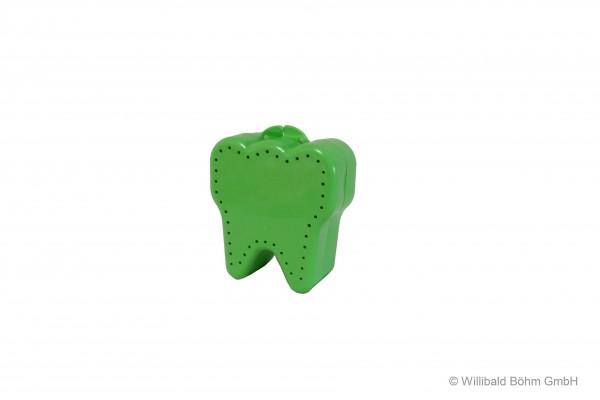 """Zahnspangendose """"Zahnform"""", pastell-hellgrün"""