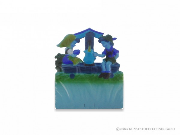 Kalenderrückwand gepr. Kinder sitzen Wassertränke