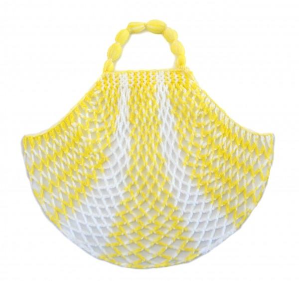 Einkaufsnetz kult gelb/ weiß