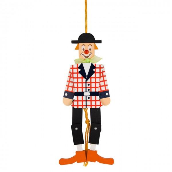 Hampelmann Clown aus Holz