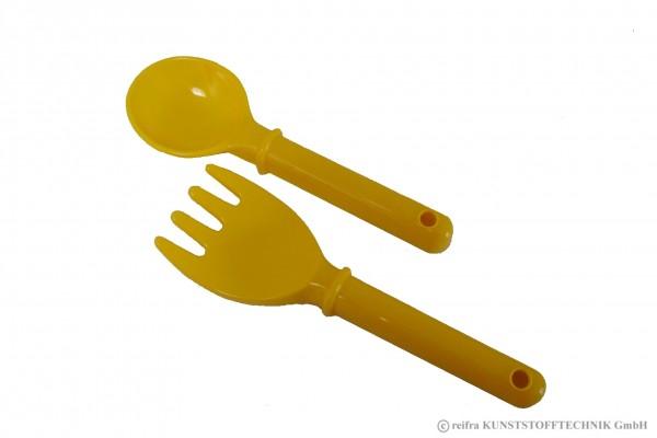Rechen-Schaufelset 25 cm gelb