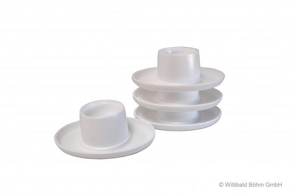 Eierbecher oval, 4-er Pack, weiß